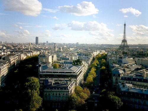 03 パリ凱旋門の上からの眺め